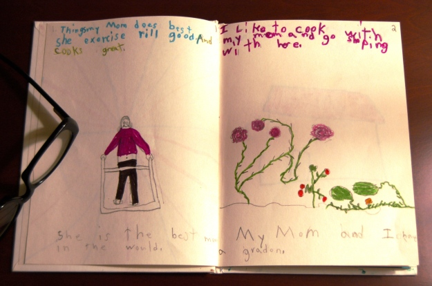 Mother's Day book written by Daniel St.Clair,  second grade, 1994.