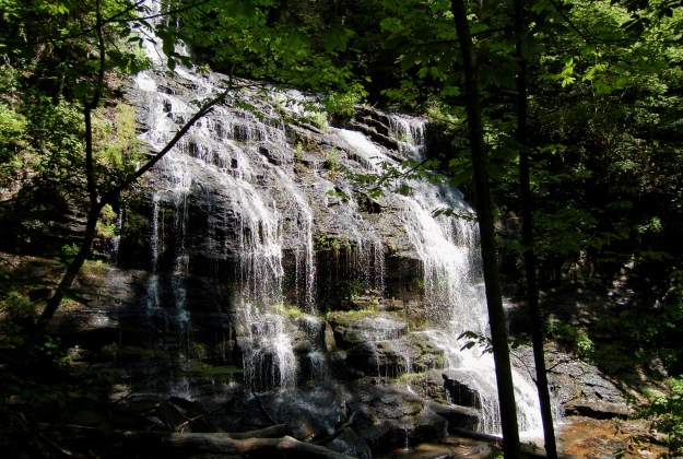 Beauty of the lower cascade, Station Cove Falls