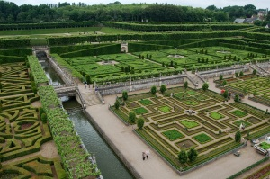The river and Music Garden from the roof of the Chateau