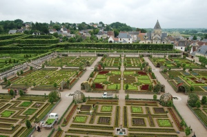 Potager (Vegetable Garden) as seen from the roof of the Chateau