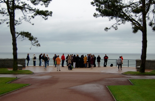 Overlooking Omaha Beach.  (2013)
