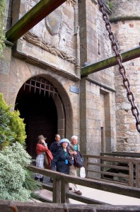 The massive gate.