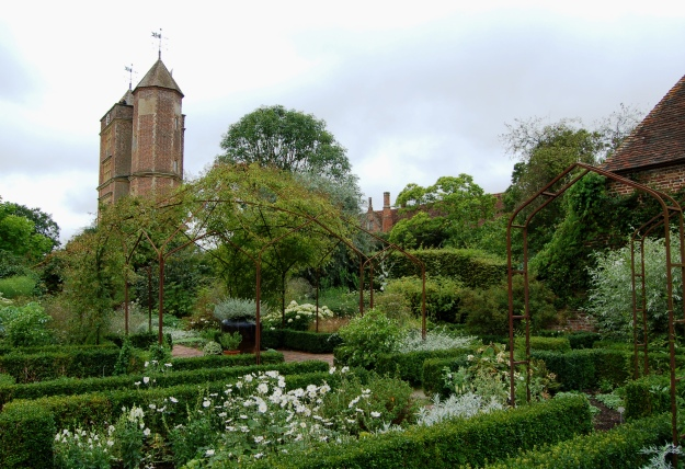 The tower, viewed from the white garden.