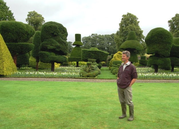Chris Crowder at Levens Hall in England's Lake District.