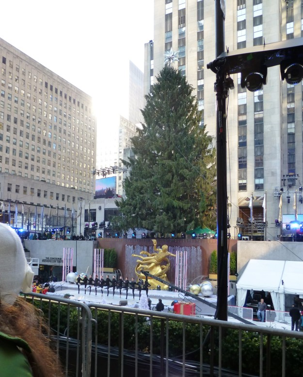 The Christmas tree at 30 Rock will glow with 45,000 lights tonight.