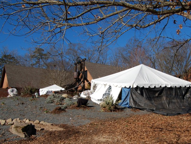 Heated tents protect tender plants at SCBG.