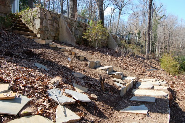 New stone steps provide safe access.