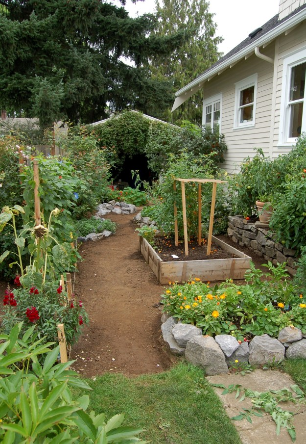 Repurposed space for a Portland garden.