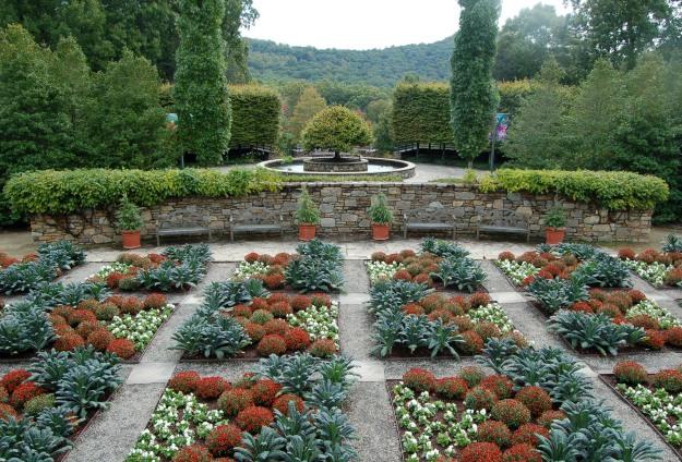 The North Carolina Arboretum's quilt garden, October 7, 2014.