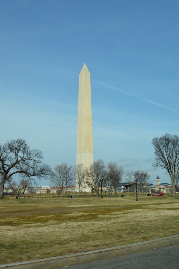 Lucky catch of the Washington Monument from my taxi window on the way to the airport this past Sunday.