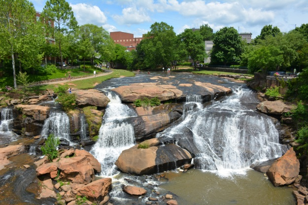 Reedy River Falls, downtown Greenville.