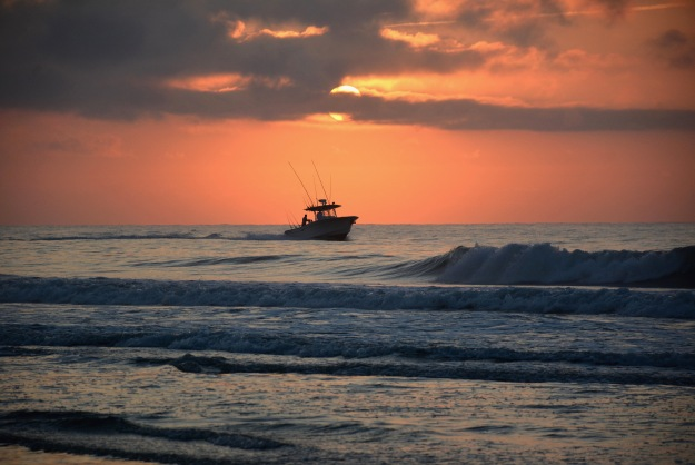 Early morning fishing expedition, Litchfield Beach, South Carolina.