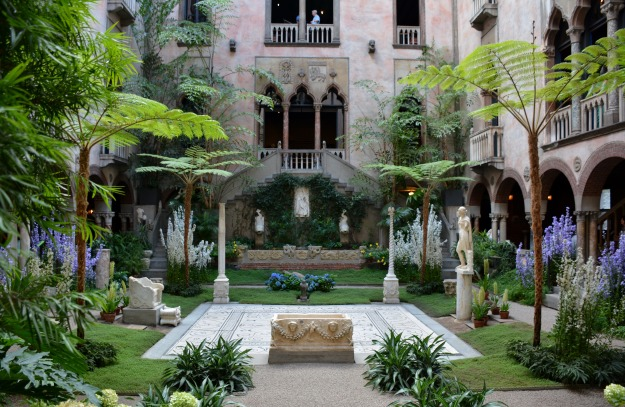 Interior courtyard of the Isabella Stewart Gardener Museum, Boston, from the North Cloister.