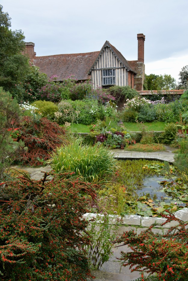 The Sunk Garden and Barn Garden looking towards the house.