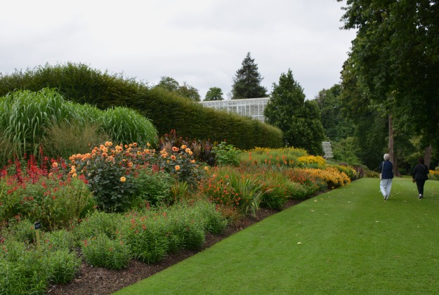 A magnificent herbaceous border leads the way to the Queen Elizabeth Temperate House.