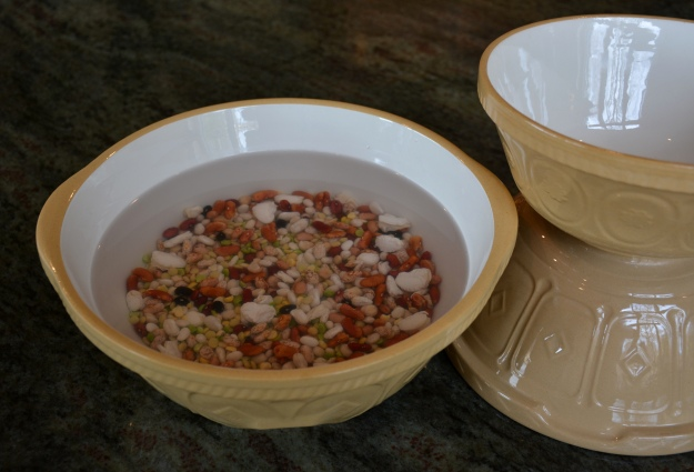 A trio of English mixing bowls.